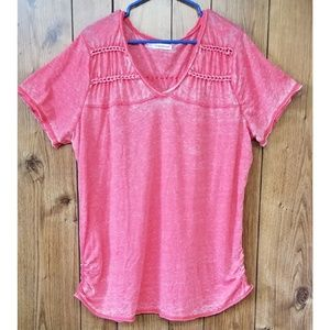 Maurices Super Soft Knotted Heathered Pink Top